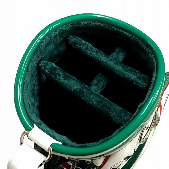 【先行予約】男前カラーの配色【VALIANT】 ヴァリアント かっこいい 数量限定 キャディバッグ ゴルフバッグ メンズ 緑 白 ホワイト VA-005CB-ITALY|golf-regolith|06