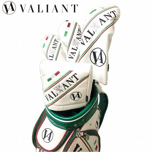 【先行予約】1秒で見つかる【 VALIANT 】 ヘッドカバー かっこいい シェリフ姉妹ブランド メンズ  ホワイト 白 VA-005HC-ITALY golf-regolith
