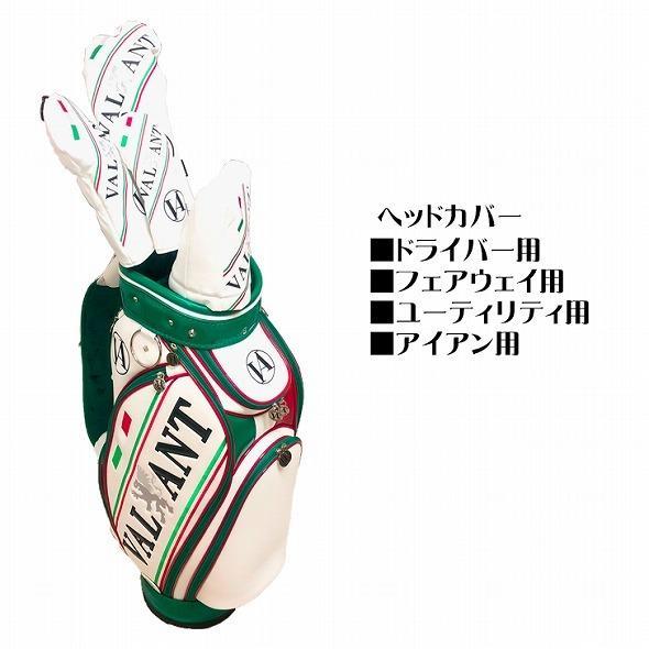 【先行予約】1秒で見つかる【 VALIANT 】 ヘッドカバー かっこいい シェリフ姉妹ブランド メンズ  ホワイト 白 VA-005HC-ITALY golf-regolith 02