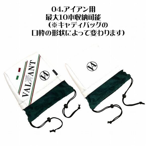 【先行予約】1秒で見つかる【 VALIANT 】 ヘッドカバー かっこいい シェリフ姉妹ブランド メンズ  ホワイト 白 VA-005HC-ITALY golf-regolith 06