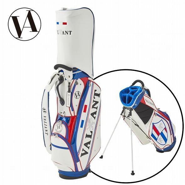 【先行予約】男前カラーの配色【VALIANT】 ヴァリアント かっこいい スタンド キャディバッグ ゴルフバッグ メンズ 青 白 ホワイト VA-006CB-FRANCE|golf-regolith