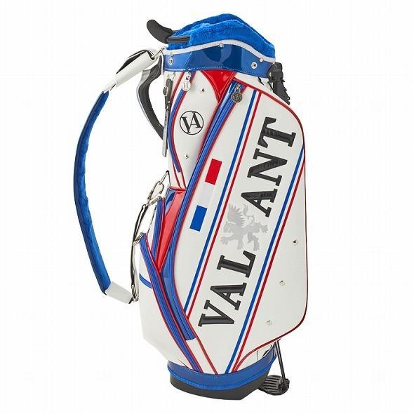 【先行予約】男前カラーの配色【VALIANT】 ヴァリアント かっこいい スタンド キャディバッグ ゴルフバッグ メンズ 青 白 ホワイト VA-006CB-FRANCE|golf-regolith|02