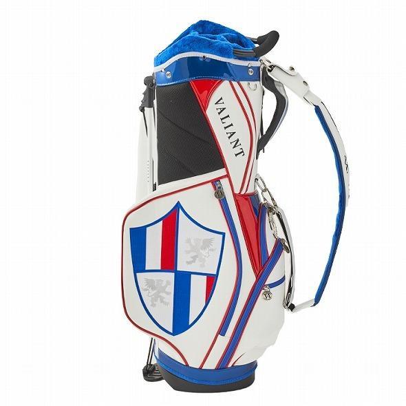 【先行予約】男前カラーの配色【VALIANT】 ヴァリアント かっこいい スタンド キャディバッグ ゴルフバッグ メンズ 青 白 ホワイト VA-006CB-FRANCE|golf-regolith|03