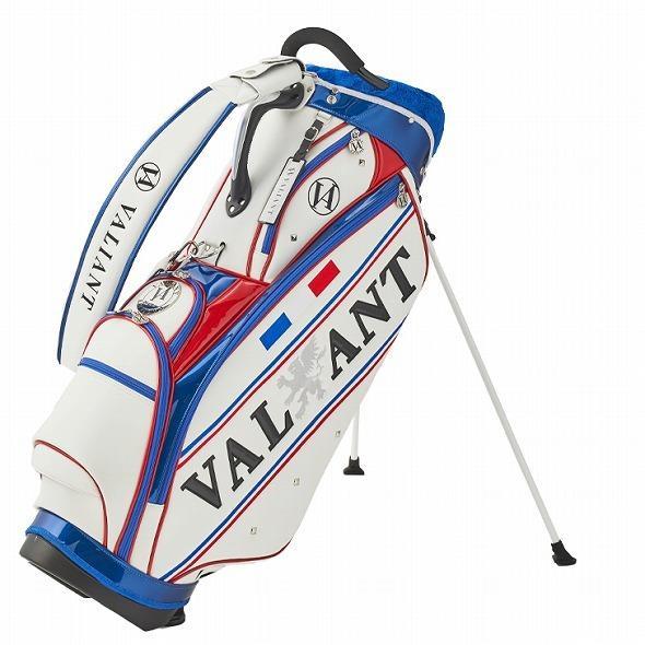 【先行予約】男前カラーの配色【VALIANT】 ヴァリアント かっこいい スタンド キャディバッグ ゴルフバッグ メンズ 青 白 ホワイト VA-006CB-FRANCE|golf-regolith|04