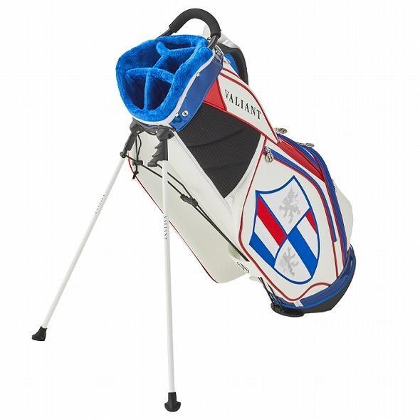 【先行予約】男前カラーの配色【VALIANT】 ヴァリアント かっこいい スタンド キャディバッグ ゴルフバッグ メンズ 青 白 ホワイト VA-006CB-FRANCE|golf-regolith|05