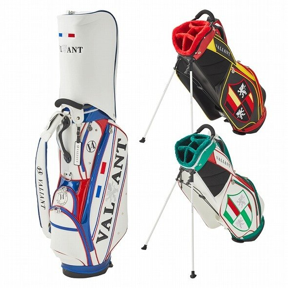 【先行予約】男前カラーの配色【VALIANT】 ヴァリアント かっこいい スタンド キャディバッグ ゴルフバッグ メンズ 青 白 ホワイト VA-006CB-FRANCE|golf-regolith|09