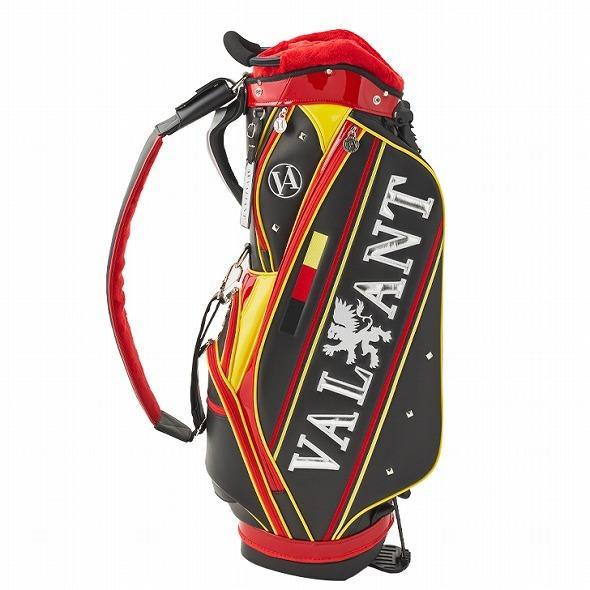 【先行予約】男前カラーの配色【VALIANT】 ヴァリアント かっこいい スタンド キャディバッグ ゴルフバッグ メンズ ブラック 黒 赤 VA-006CB-GERMANY|golf-regolith|02