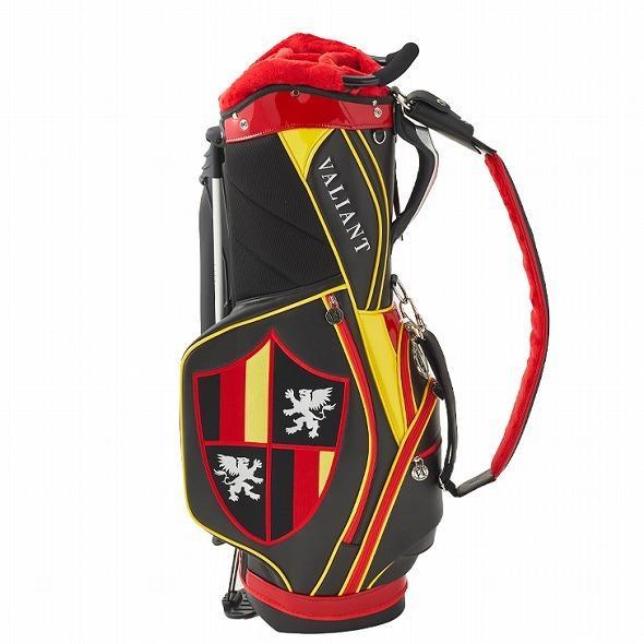 【先行予約】男前カラーの配色【VALIANT】 ヴァリアント かっこいい スタンド キャディバッグ ゴルフバッグ メンズ ブラック 黒 赤 VA-006CB-GERMANY|golf-regolith|03