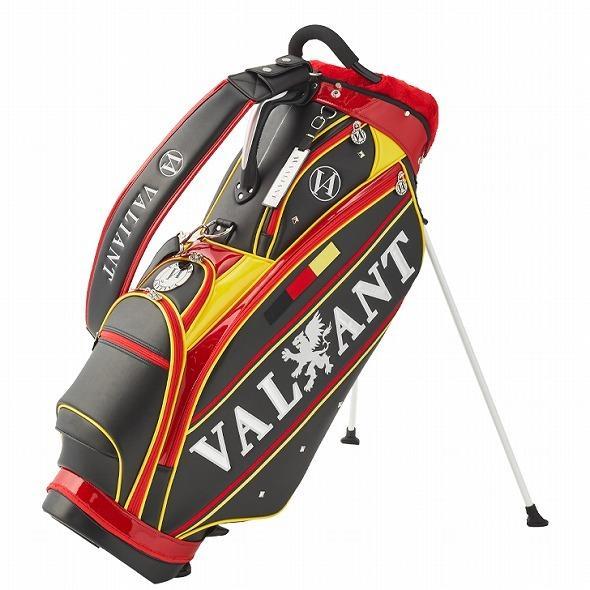 【先行予約】男前カラーの配色【VALIANT】 ヴァリアント かっこいい スタンド キャディバッグ ゴルフバッグ メンズ ブラック 黒 赤 VA-006CB-GERMANY|golf-regolith|04
