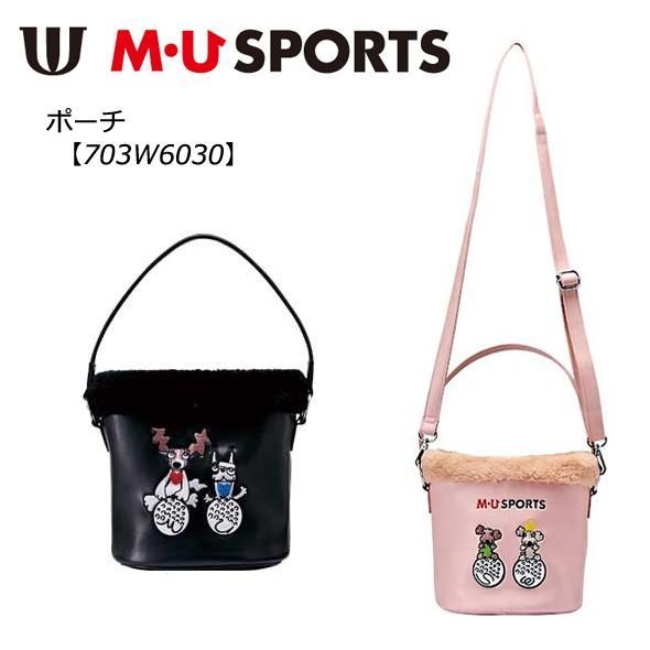 M・U SPORTS MUスポーツ エムユースポーツ ゴルフ ポーチ ラウンドバッグ カートバッグ 703W6030 2018年モデル ★