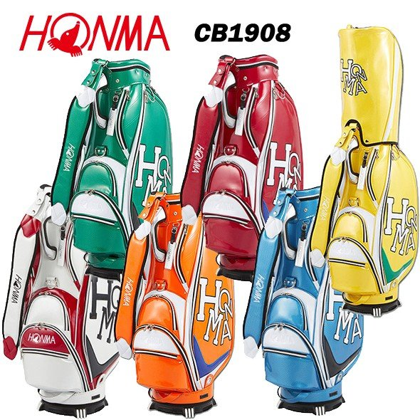 本間ゴルフ Dancing HONMA エナメルモデル キャディバッグ CB1908 ホンマ CB-1908【2019年モデル】