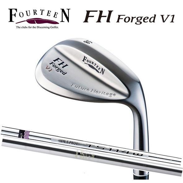 フォーティーン FH Forged V1 ウェッジ ニッケルクロムメッキ・パールサテン仕上げ スチールシャフト 日本正規品
