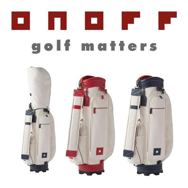 ONOFF オノフ ゴルフ キャディバッグ (素材 綿×牛革) 【OB0817】【2019年継続モデル】
