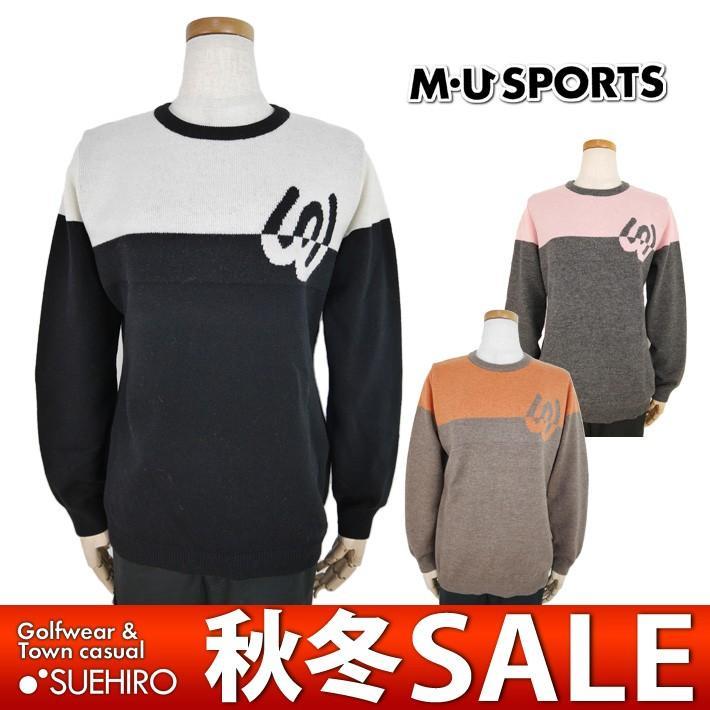 MUスポーツ ゴルフウェア 丸首セーター (M/L/LL寸:レディース) 秋冬 55%OFF/SALE
