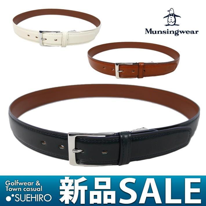 マンシングウェア Munsingwear ゴルフ レザーベルト(FREE(幅3.5cm/最長105cm対応):メンズ) 30%OFF/SALE jamj601
