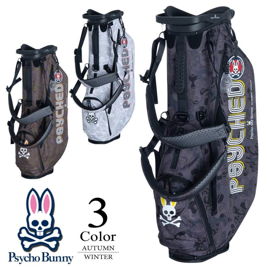 期間限定クーポン配布中 サイコバニー Psycho Bunny GOLF ゴルフ キャディバッグ (9型:メンズ) 2019秋冬新作モデル