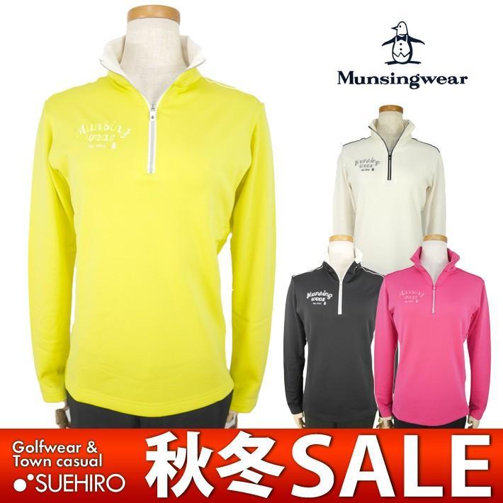 マンシングウェア Munsingwear ゴルフウェア 長袖ハーフジップシャツ (M/L寸:レディース) 秋冬 50%OFF/SALE sl1300
