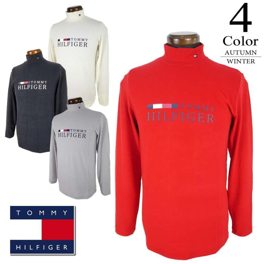 期間限定クーポン配布中 トミーヒルフィガー TOMMY HILFIGER ゴルフ メンズ 長袖ハイネックシャツ (M/L/LL寸:メンズ) 2019秋冬新作モデル