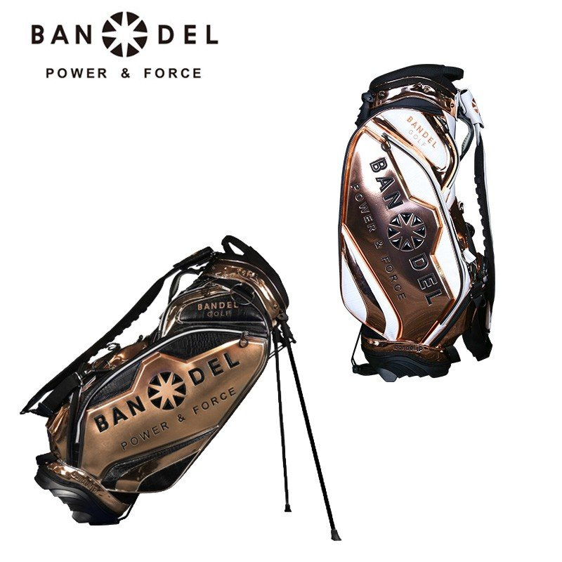 バンデル ゴルフ 2019 9.5型 スタンドバッグ Bag004 ベース/ゴールド BANDEL GOLF 19SS スタンド式 キャディバッグ メンズ 男性 レディース 女性 軽量