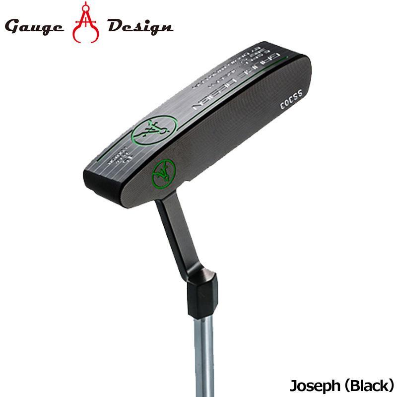 日本正規品 ゲージデザイン パター Joseph (黒) オリジナルスチールシャフト装着 Gauge Design Putter PT ピンタイプジョセフブラック ゴルフクラブ