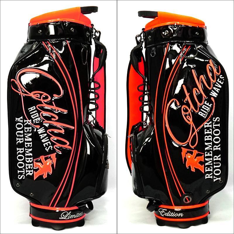 ガッチャゴルフ 2021 9型 キャディバッグ エナメル ネオン 99GG8538 GOTCHA GOLF  21SS ゴルフバッグ ゴルフ用バッグ MAY3 golf-thirdwave 04