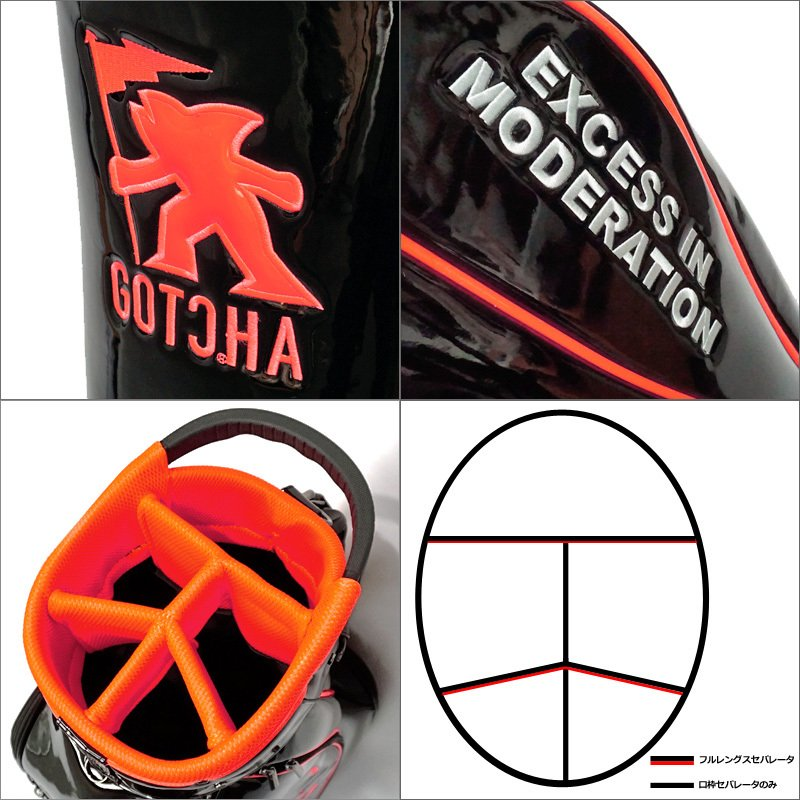 ガッチャゴルフ 2021 9型 キャディバッグ エナメル ネオン 99GG8538 GOTCHA GOLF  21SS ゴルフバッグ ゴルフ用バッグ MAY3 golf-thirdwave 05