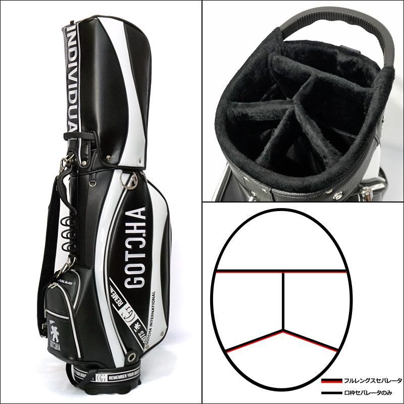 【即納在庫あり】ガッチャゴルフ 2021 9型 PUレザー キャディバッグ 99GG8542 ストリート 切替 GOTCHA GOLF  21SS ゴルフバッグ ゴルフ用バッグ JUL1|golf-thirdwave|05