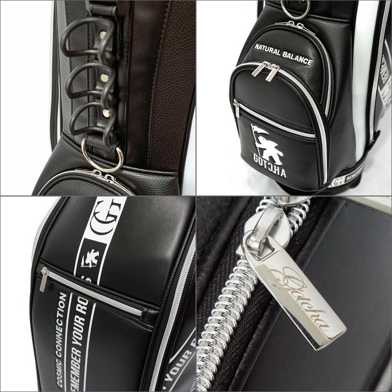 【即納在庫あり】ガッチャゴルフ 2021 9型 PUレザー キャディバッグ 99GG8542 ストリート 切替 GOTCHA GOLF  21SS ゴルフバッグ ゴルフ用バッグ JUL1|golf-thirdwave|07