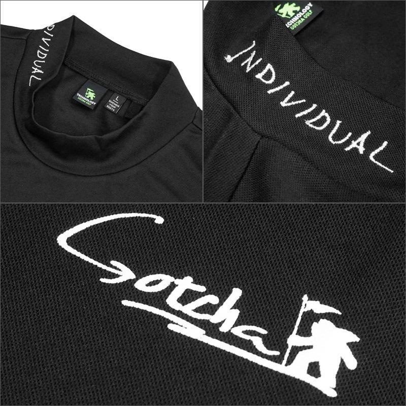 メール便配送 ガッチャゴルフ 2021 メンズ 吸汗速乾 UVカット 半袖 ハイネック シャツ 212GG1002 ドローイングフィッシュ GOTCHA GOLF 21SS ゴルフウェア|golf-thirdwave|05