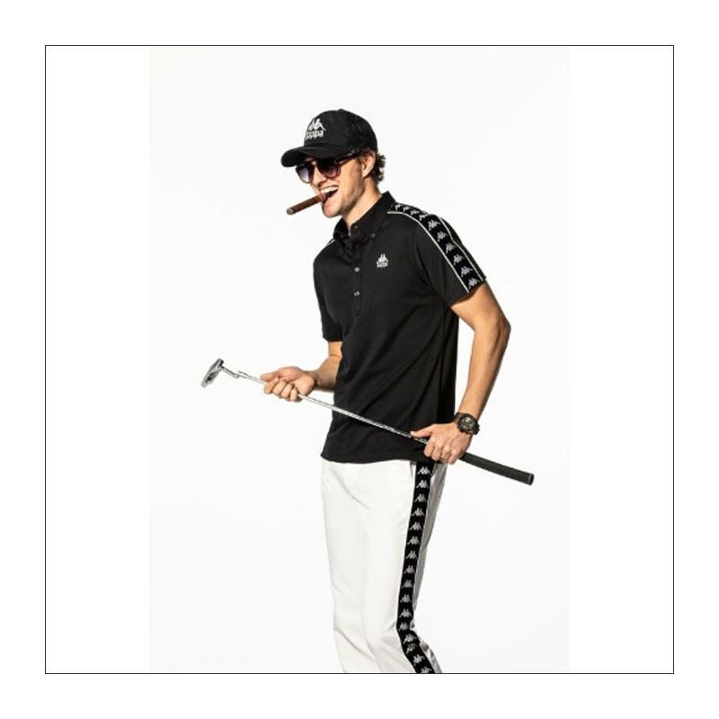 カッパ ゴルフ メンズ 撥水 ストレッチ ロングパンツ BANDA KGA12PA32 Kappa 20SS ゴルフウェア ニットパンツ|golf-thirdwave|04