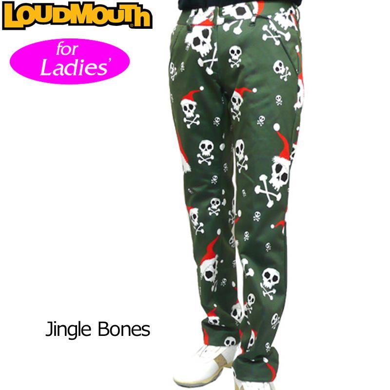 ラウドマウス Loudmouth ゴルフ レディースウエア ボンディング ロングパンツ 726714 (041)Jingle Bones ジングルボーンズ 秋 冬 新品 日本規格