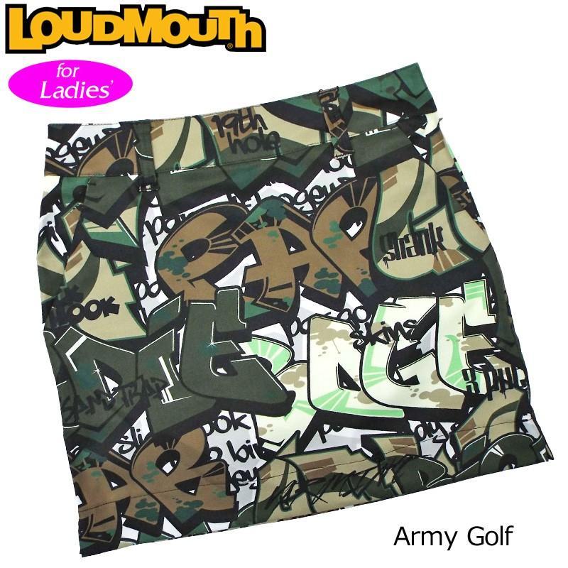 メール便可250円 日本規格 レディース ラウドマウス 2019 Army Golf アーミー ゴルフ 769369(200) 19SS Loudmouth スコート ゴルフウェア 派手 JUN2