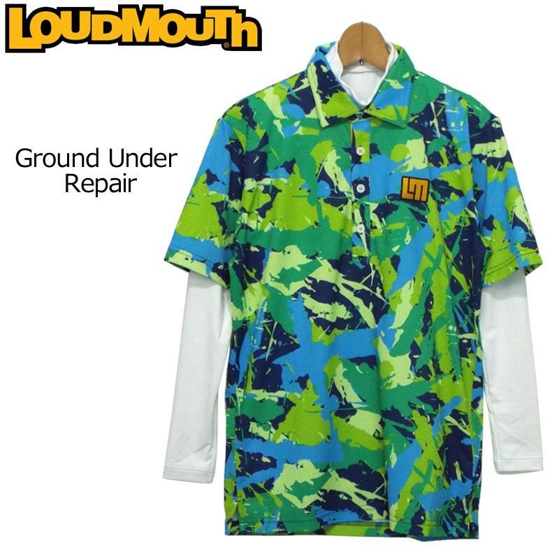 日本規格 ラウドマウス メンズ 半袖ポロシャツ/グランド アンダー リペア+長袖ハイネックインナーシャツ セット 778500(153) レイヤード 18FW ゴルフウェア