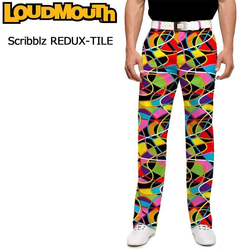 ラウドマウス Loudmouth ゴルフ メンズウエア ロングパンツ スリムカット Scribblz REDUX-TILE スクリブルズ リダックスタイル 777325(069) 新品 17FW
