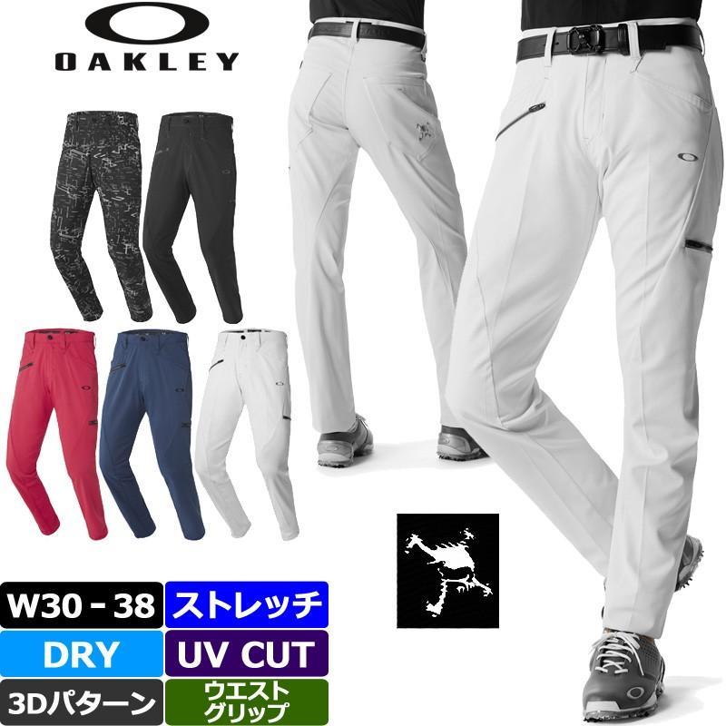 オークリー メンズ スカル テーパード ロングパンツ 422514JP 18FW SKULL 3D TAPE赤 18.0 ゴルフウェア メンズウェア 男性用 紳士用 ボトムス 長ズボン