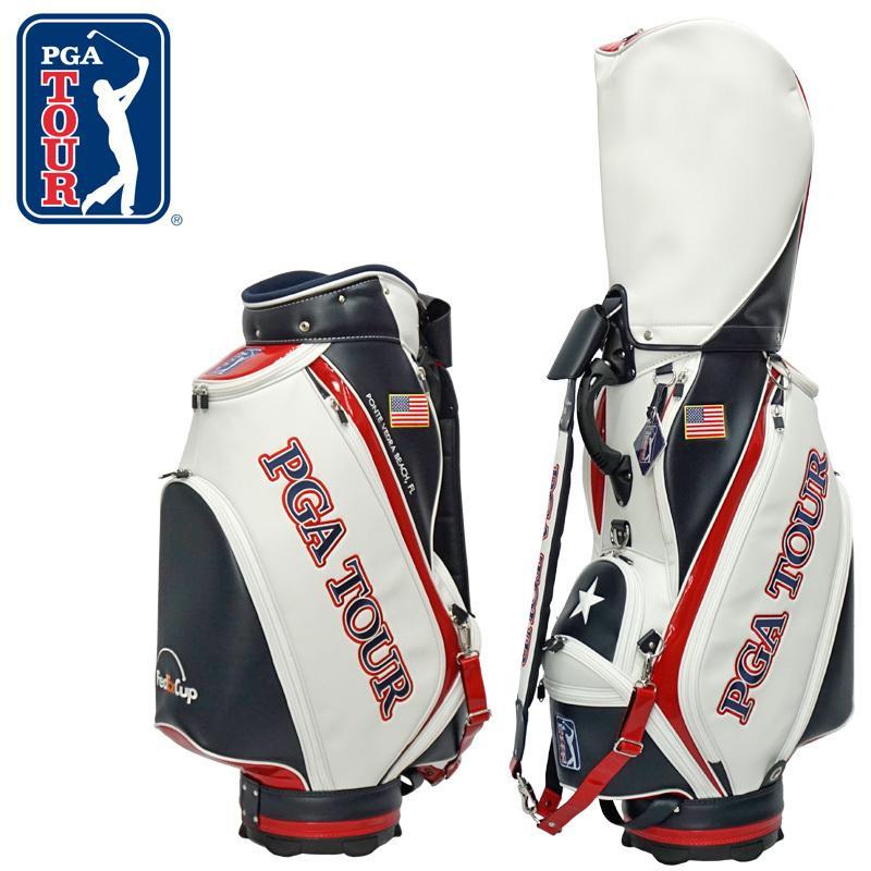 [50本限定生産] PGA TOUR 3点式 キャディバッグ モデル シリアルナンバー入り PZ-1 PGAツアー ゴルフ用品 メンズ 男性 USA US