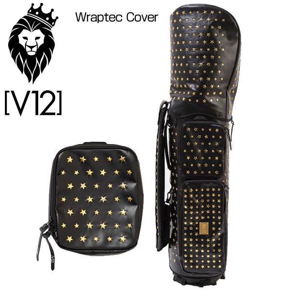 V12 ゴルフ ヴィ・トゥエルヴ ラップテックカバー 単品 STAR STUDS-ブラック×ゴールド V121710-CV05M 9.5型用 新品 ゴルフ用バッグ