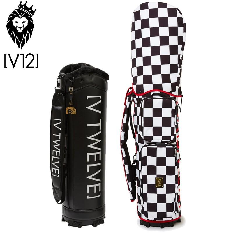 V12 ゴルフ ヴィ・トゥエルヴ 2019 ラップテック 本体/V121700BS01M キャディバッグ 9.5型 カバー/V121910-CV01M 02/白い×黒 19SS ゴルフ