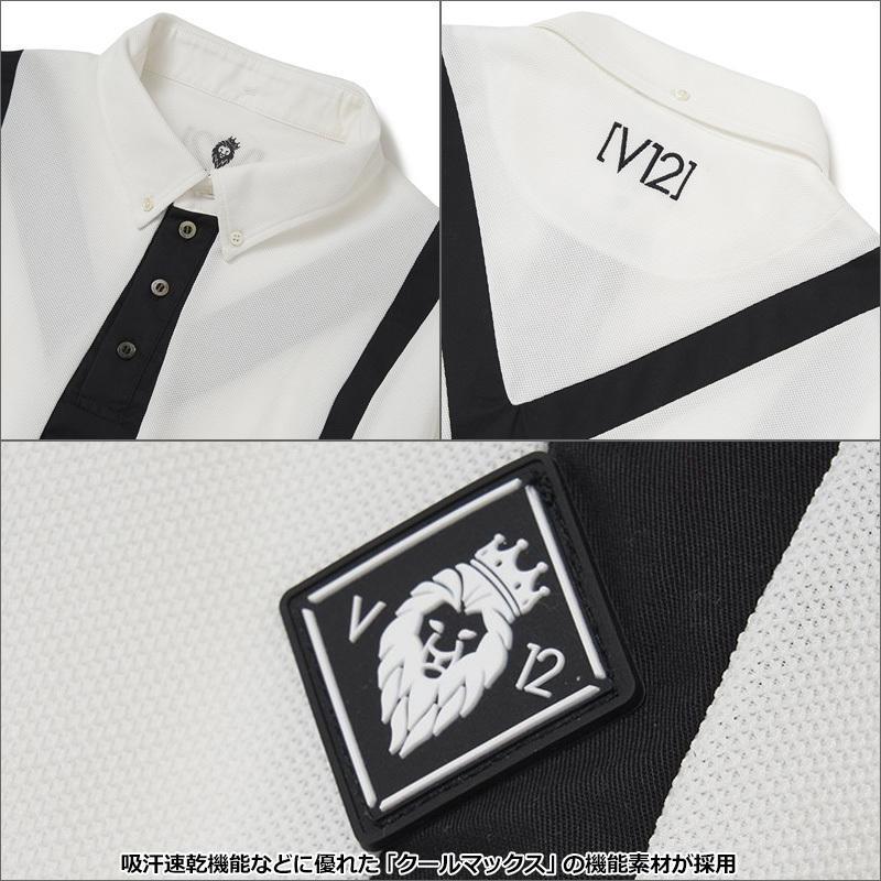V12 ゴルフ 2021 メンズ 長袖 ポロシャツ フェイクタイ L/S FAKE TIE V122120-CT02 ヴィ・トゥエルヴ  21FW ゴルフウェア おしゃれ ネクタイ V12GOLF AUG3 golf-thirdwave 04