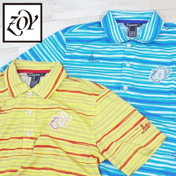 メール便可250円 ゾーイ メンズ 半袖 ポロシャツ 071482037 春夏 18SS ZOY ゴルフ メンズウエア