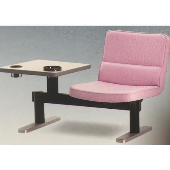 【ゴルフ練習場などに】 ビニールレザー テーブル一体型 (打席用チェアー・一人用) ★GB-830S 固定可/組立式 ★業務用/個人もモチロンOK