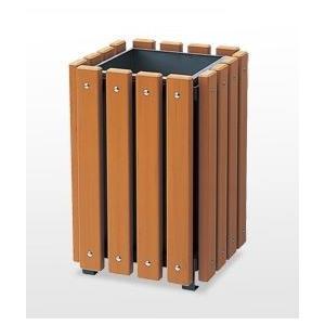 【ゴルフ練習場などに】ゴミ箱(屑入れ) 再生木材 RP-42DN ★業務用 個人もモチロンOK