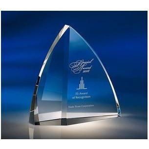 【クリスタル楯】 トロフィー Yacht(ヨット) ★ WIN ZKG-1151 Bサイズ★ 表彰・トロフィー・カップ