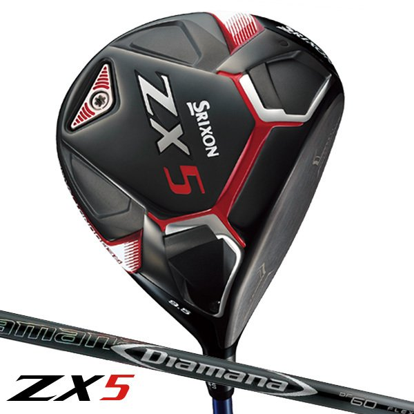 【 特注 納期約4-8週間 】 スリクソン ZX5 ドライバー ディアマナ DF シャフト 2020年モデル|golf7