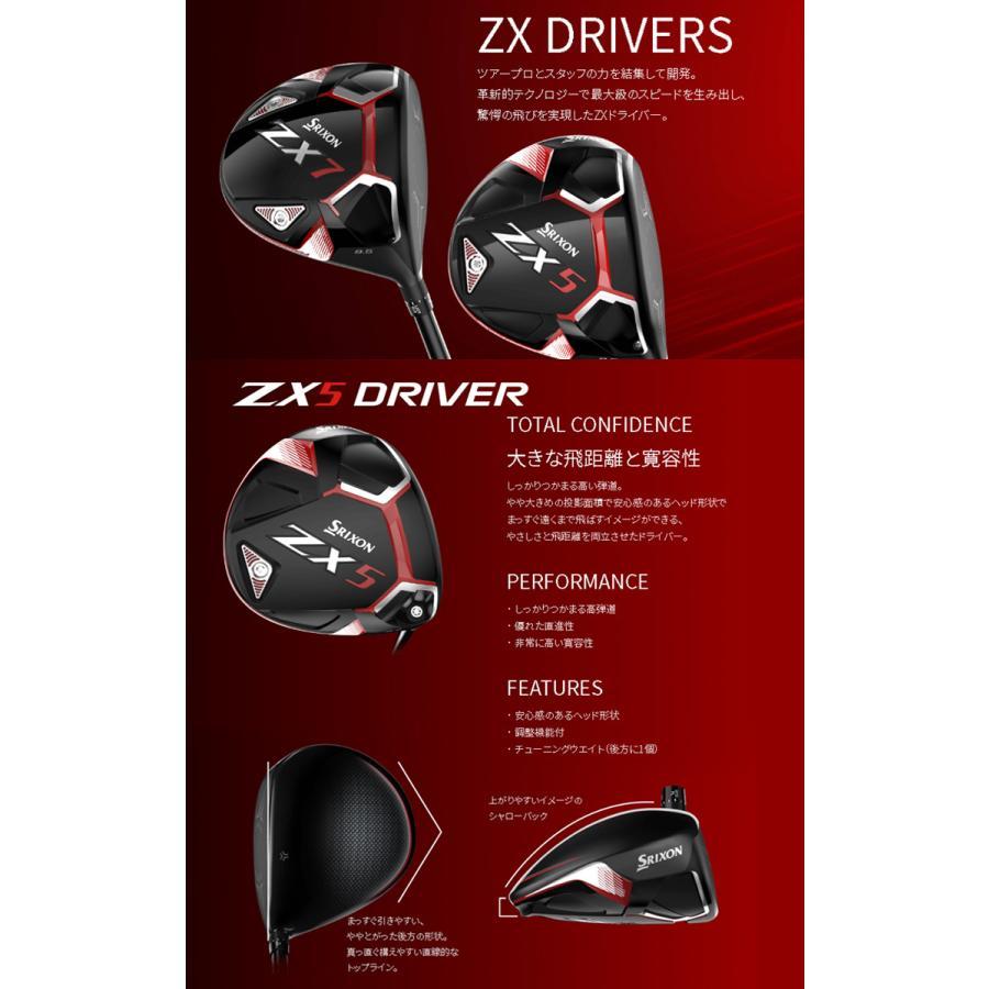【 特注 納期約4-8週間 】 スリクソン ZX5 ドライバー ディアマナ DF シャフト 2020年モデル|golf7|02
