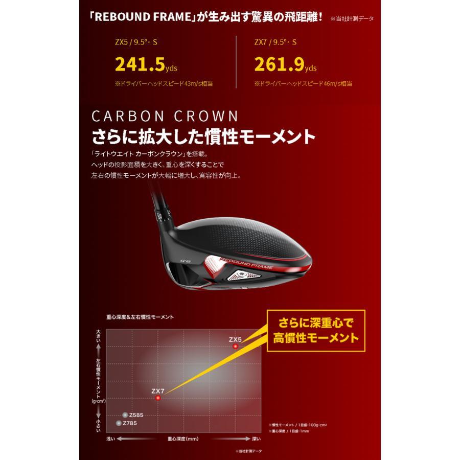 【 特注 納期約4-8週間 】 スリクソン ZX5 ドライバー ディアマナ DF シャフト 2020年モデル|golf7|04