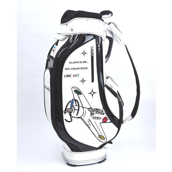 ★ブルームーン 零戦 ホワイト 9.0型 キャディバッグ 2021年モデル|golfers|02