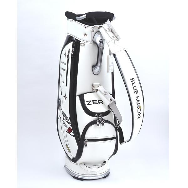 ★ブルームーン 零戦 ホワイト 9.0型 キャディバッグ 2021年モデル|golfers|04