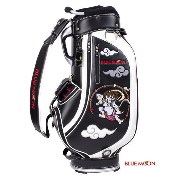 ブルームーン キャディバッグ 2021年モデル 風神雷神 C13-BMF ブラック  9型|golfers