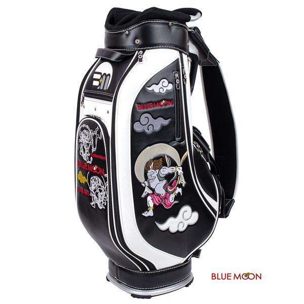 ブルームーン キャディバッグ 2021年モデル 風神雷神 C13-BMF ブラック  9型|golfers|02